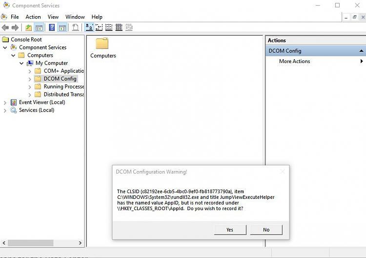 DUplicate rundll32.exe in DCOM-dcom-problem.jpg