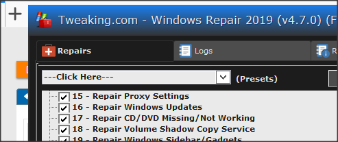 Cannot open System restore - Unexpected error in the property page-1.png