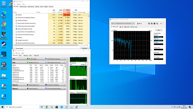 Nearly Maxed CPU, Memory, and Disk-hdtunehalfway.png