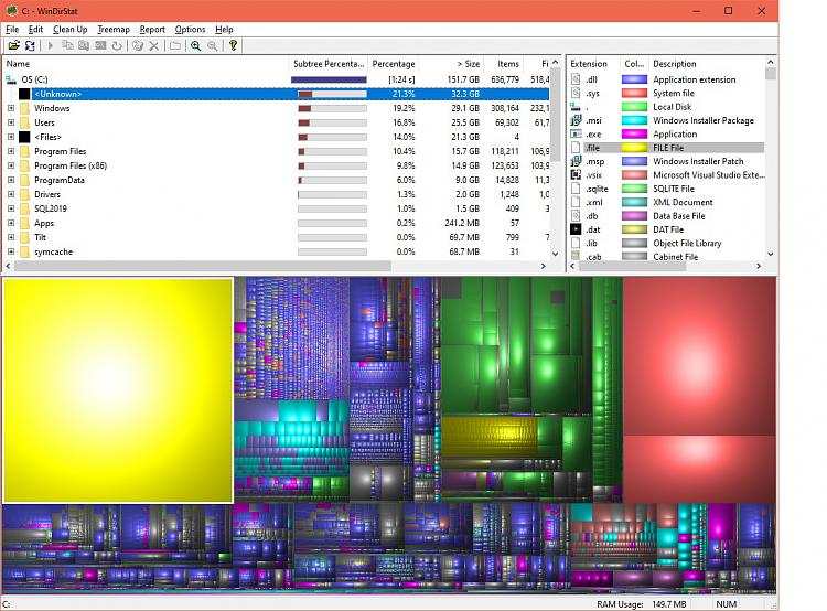 Unaccounted for Dell Laptop Hard Drive space on C: drive SSD-windirstatcdrive.jpg