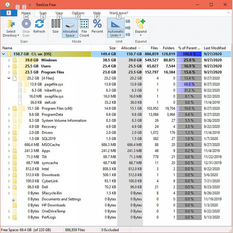 Unaccounted for Dell Laptop Hard Drive space on C: drive SSD-treesizefree-sep-27.jpg
