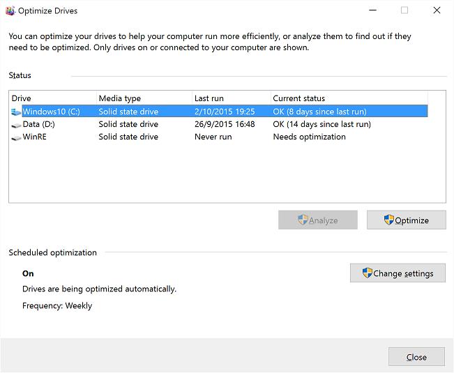 Do I Need To Defrag Windows 10 Windows 10 Forums
