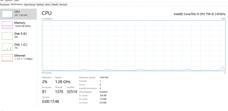 Windows 10 -- high CPU usage is a real issue Solved