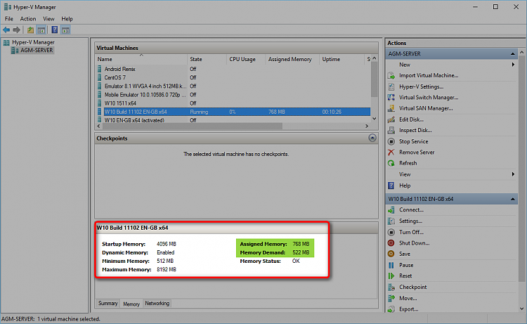 Windows 10 and Hyper-V dynamic memory Solved - Windows 10 Forums