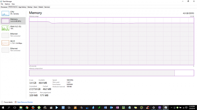 Task manager not showing complete memory usage? - Windows 10 Forums
