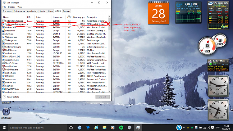 high cpu usage windows 10 idle