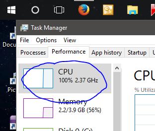task manager high cpu utilization