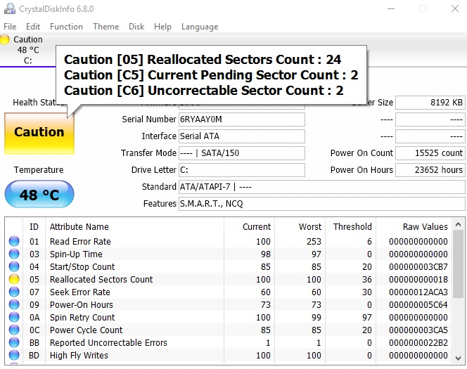 Click image for larger version.  Name:CrystalDisk Results.jpg Views:8 Size:145.1 KB ID:74089