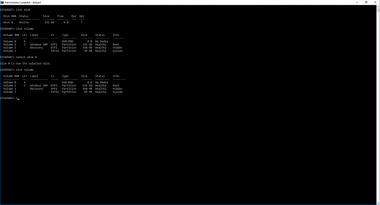 fat32 efi partition on OS disk and bootloader showing in bios-cmd-diskpart.png