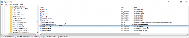 Click image for larger version.  Name:Chenge to Defender registry key.PNG Views:14 Size:43.9 KB ID:93973