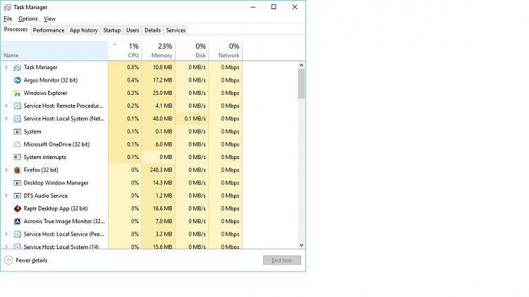 Windows 10 Au Using More Resources