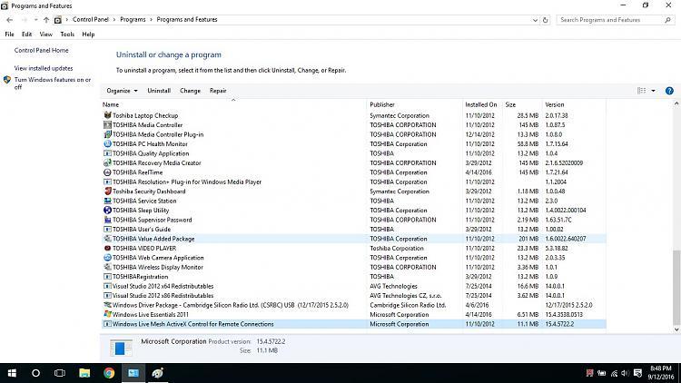 how to delete programs windows