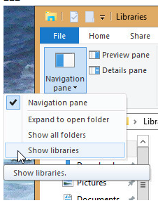 Click image for larger version.  Name:Navigation page - Show libraries.PNG Views:24 Size:85.3 KB ID:115465