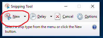 Snipping Tool under Windows 10 - Windows 10 Forums