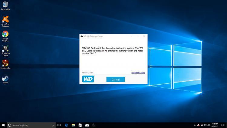 Windows 10 Creators update and WD Dashboard issue.jpg