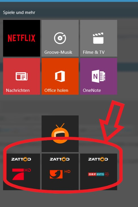 Method to open any Windows 10 Apps from command line-zattoo_tiles.jpg