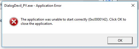 The application was unable to start correctly-capture.jpg
