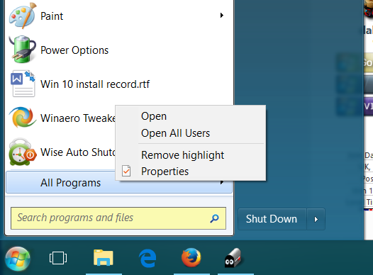 windows 10 remove all users start menu