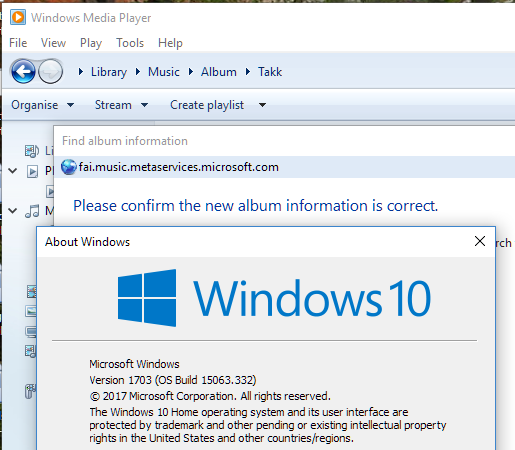 Windows media player not updating album info updating java on windows