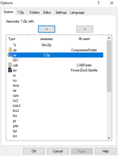 open winrar in windows 10