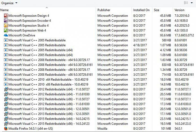 Do I really need all these versions of MS VC++ 2005-2015 ??-arp.jpg