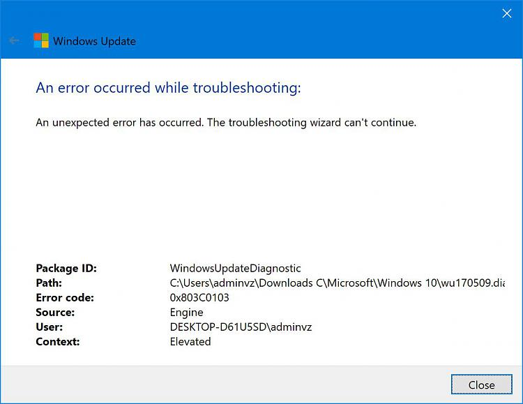 Click image for larger version.  Name:Windows Update Troubleshoot Results.JPG Views:1 Size:82.6 KB ID:150557
