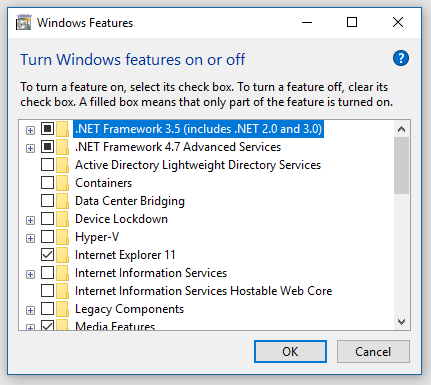 Cant install .net framework 3.5 on win10-turn-windows-features.png