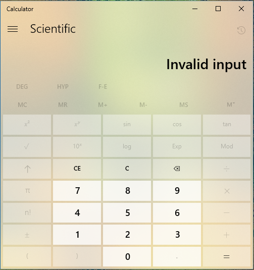 Windows calculator does not accept it's own copied text as input-invalid-input.png