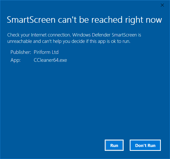 Click image for larger version.  Name:Smartscreen.PNG Views:21 Size:25.4 KB ID:154994
