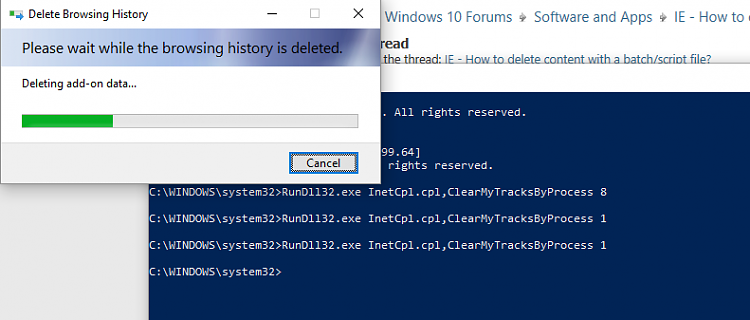 IE - How to delete content with a batch/script file? - Windows 10 Forums