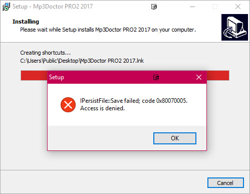 Error says I don't have access - Windows 10 Forums