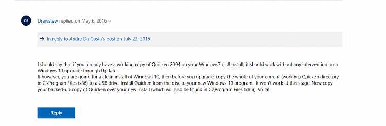 Quicken 2004 - Windows 10 Install Solved - Windows 10 Forums