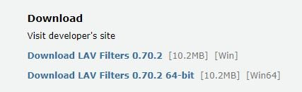 Click image for larger version.  Name:LAV Filters 0.70.2 Download.jpg Views:94 Size:8.0 KB ID:171271