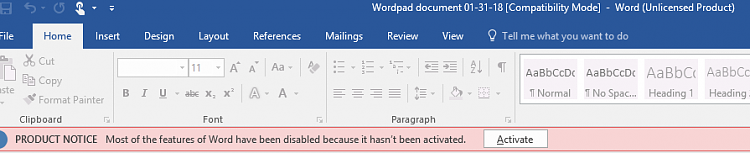 Wordpad wants to open with Word 2016 instead as a WordPad document-unlicensed-product.png