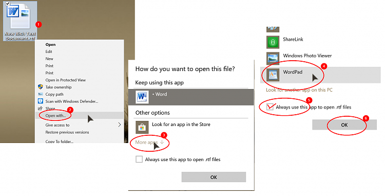Wordpad wants to open with word 2016 instead as a wordpad document click image for larger version name 000173g views 0 size ccuart Images
