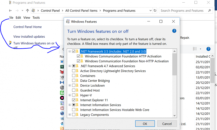 download net framework 3.5 windows 10 64 bit offline