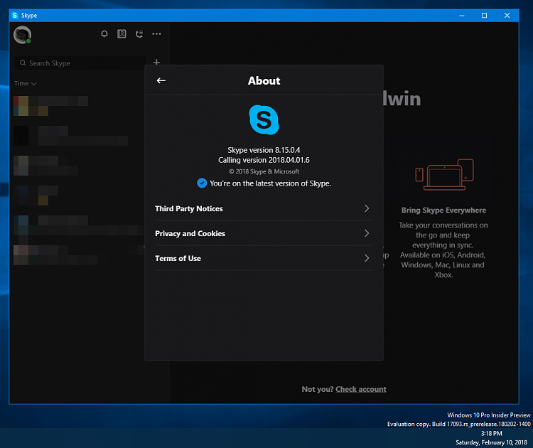 How to show contacts in skype - Page 3 - Windows 10 Forums