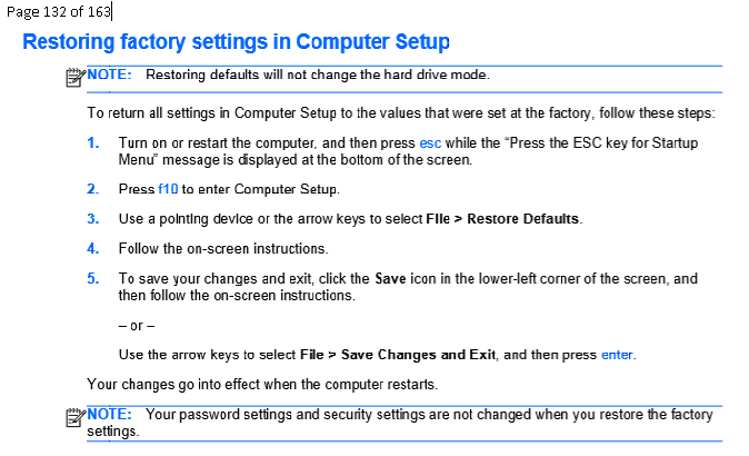Click image for larger version.  Name:Restoring factory settings in computer setup  .PNG Views:20 Size:47.7 KB ID:179098