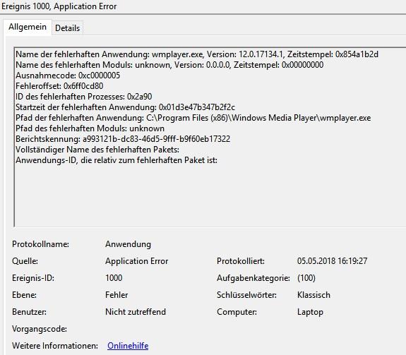 Windows 10 1803 upgrade breaks Windows Media Player (error 0xc000005)-unbenannt.jpg