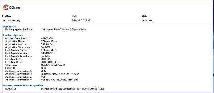 Click image for larger version.  Name:CCleaner crash.JPG Views:2 Size:67.4 KB ID:189026