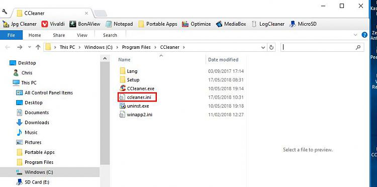 Click image for larger version.  Name:CCleaner - Settings.jpg Views:4 Size:46.2 KB ID:189040
