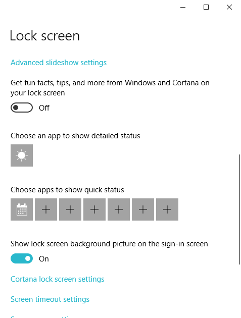 trying to display the weather app on the lock screen - Windows 10 Forums