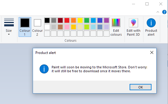 Click image for larger version.  Name:Paint 1803 product alert.PNG Views:16 Size:22.3 KB ID:190475