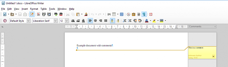 Click image for larger version.  Name:LibreOffice - show comments.PNG Views:2 Size:32.1 KB ID:191091