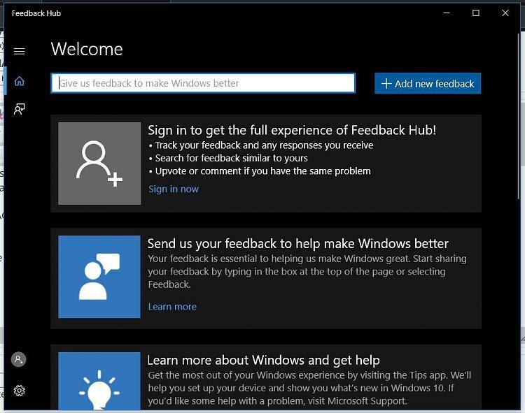 Feedback Hub not working  - Windows 10 Forums
