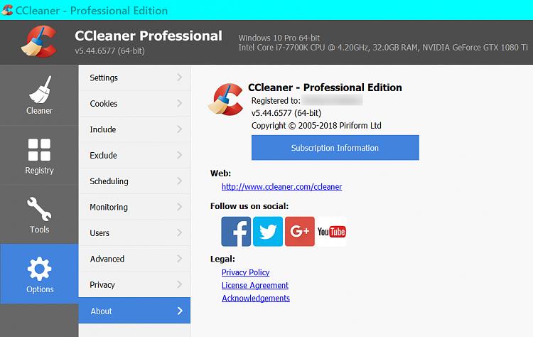 ccleaner pro para windows 10