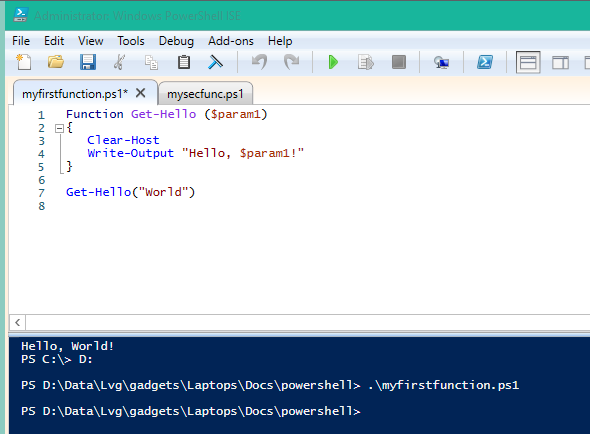 Powershell Script Example Hello World