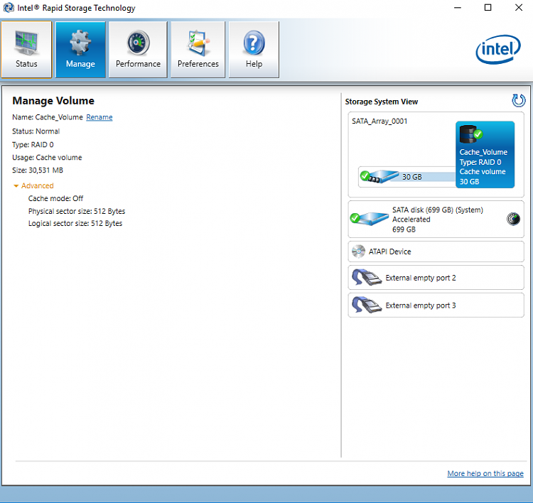 How to use Intel Rapid Storage Tech software with Kyhi boot