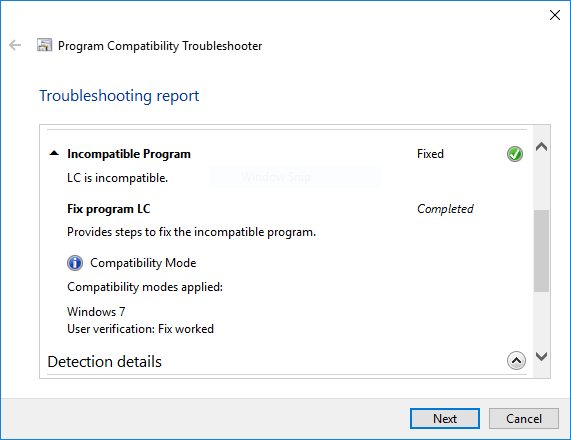 troubleshoot compatibility not working