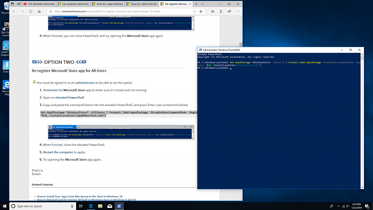 How do I open Microsoft store with error ms-windows-store:PurgeCaches-screenshot-2-.png